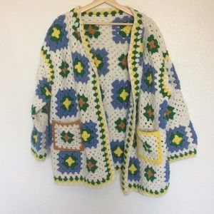 SUPER Vintage Wool Crotchet Jacket